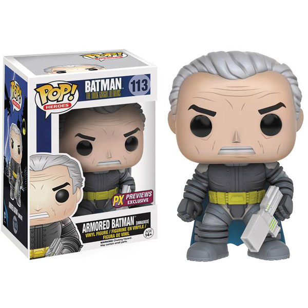 Batman The Dark Knight Returns Unmasked Armored Batman Pop Vinyl Figure