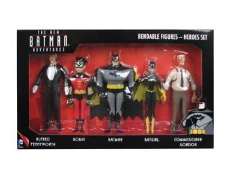 Batman The New Batman Adventures Heroes 5 1 2-Inch Bendable Figure Box Set