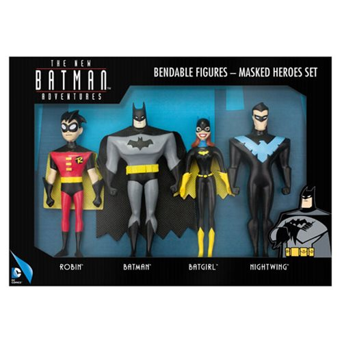 Batman The New Batman Adventures Masked Heroes Bendable Action Figure Boxed Set