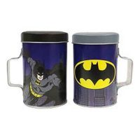 Batman Tin Salt and Pepper Shakers