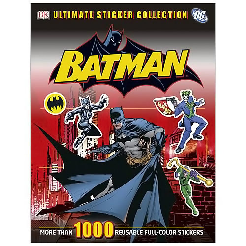 Batman Ultimate Sticker Collection Paperback Book