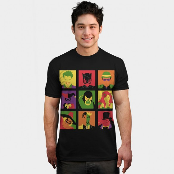 Batman Villain PopArt T Shirt e1395691602989 Batman Villain PopArt T Shirt