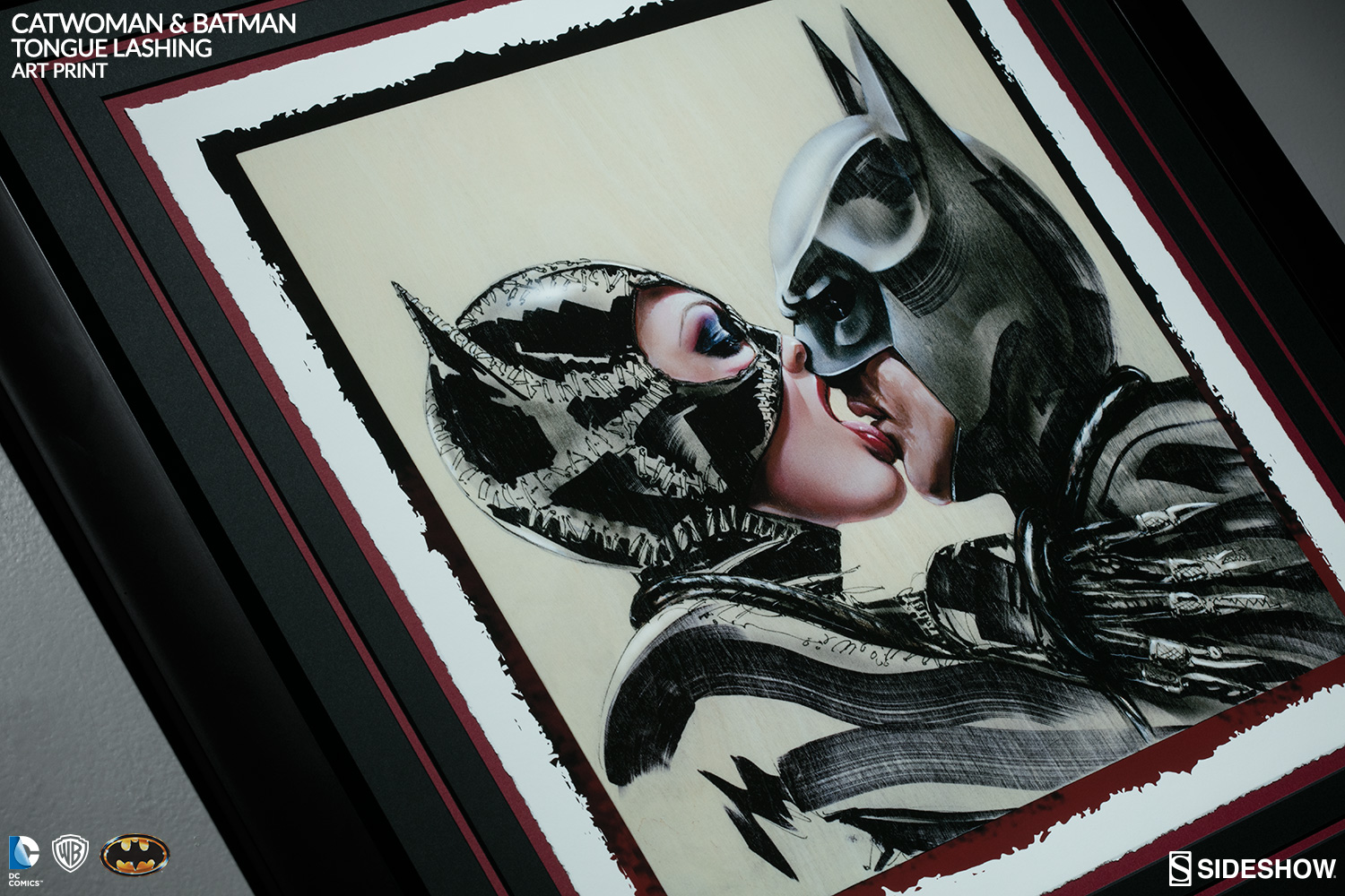 Batman and Catwoman Tongue Lashing Art Print