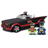 Batman and Robin Mini Mez Itz with 1966 Batmobile Vehicle
