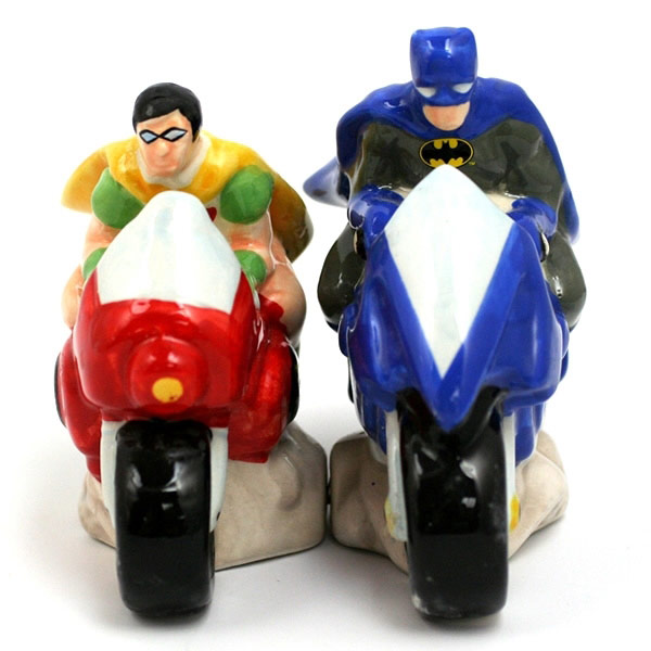 Batman and Robin Salt and Pepper Shakers