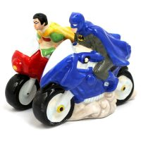 Batman and Robin on Bikes Salt and Pepper Shakers