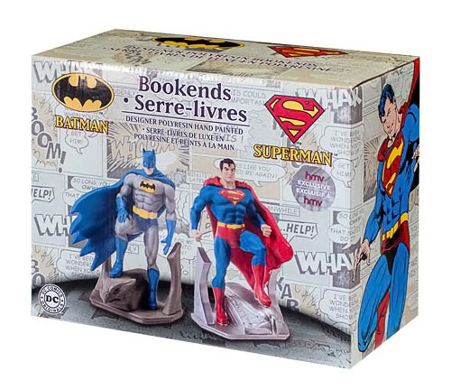 Batman and Superman Bookends