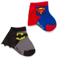 Batman and Superman Caped Infant Socks