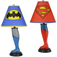 Batman and Superman Leg Lamps