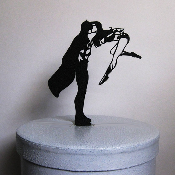 Batman and Wonder Woman Cake Topper