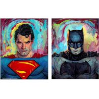 Batman v Superman Art Prints