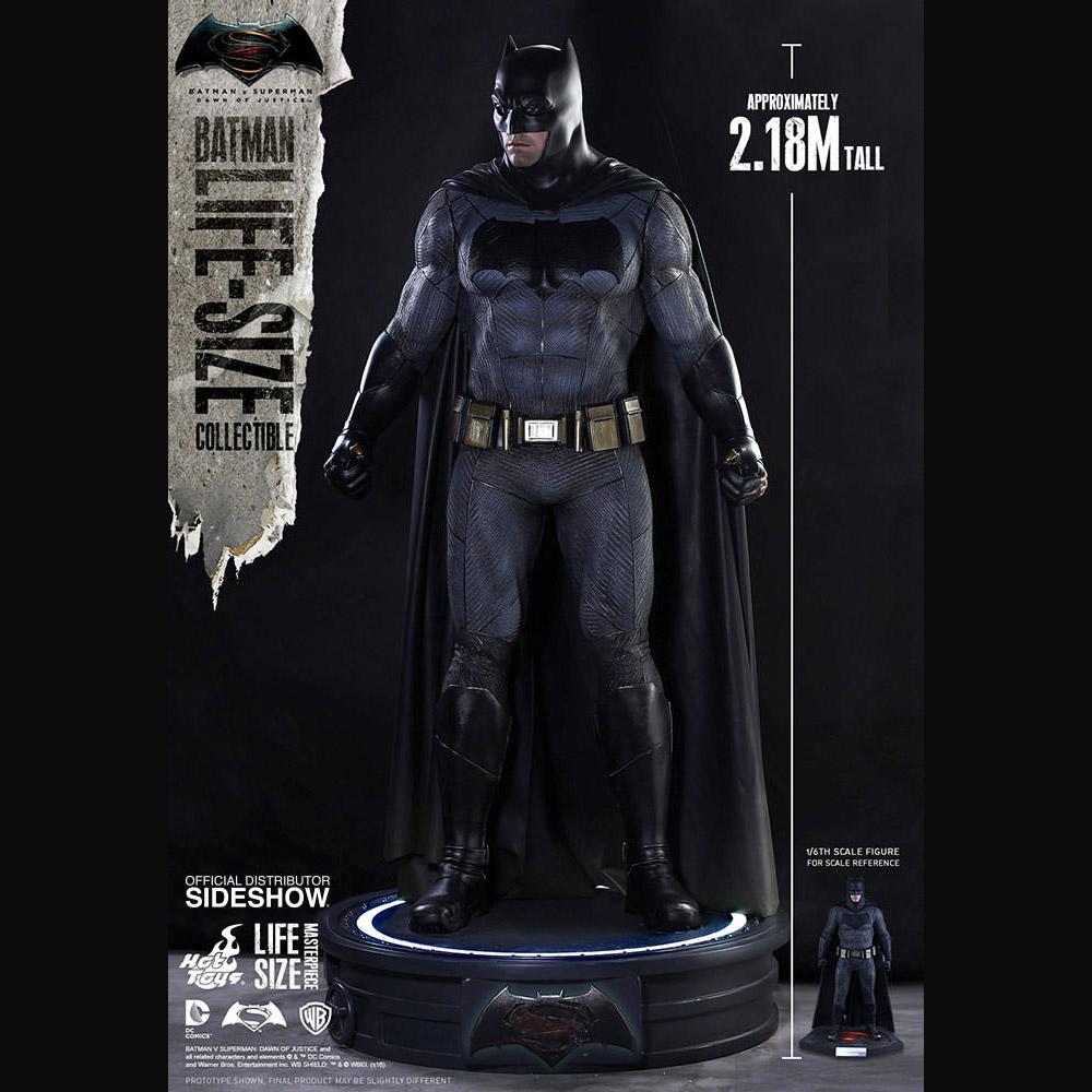 batman v superman batman lifesize figure � geekalerts