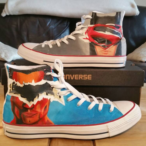 Batman v Superman Converse Shoes