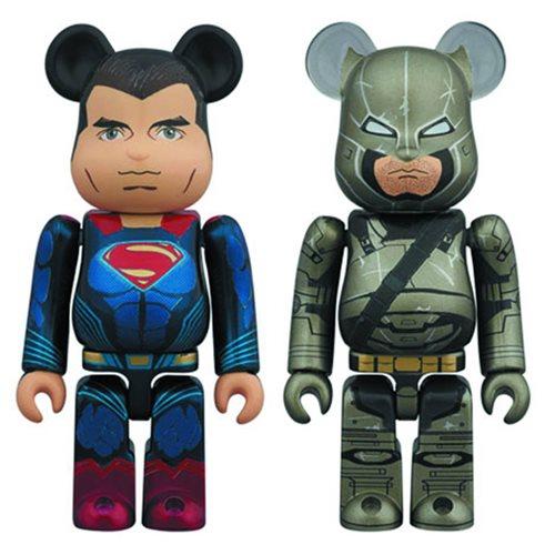 Batman v Superman: Dawn of Justice 100% Bearbrick 2-Pack