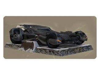 Batman v Superman Dawn of Justice Batmobile Finders Keyper Statue