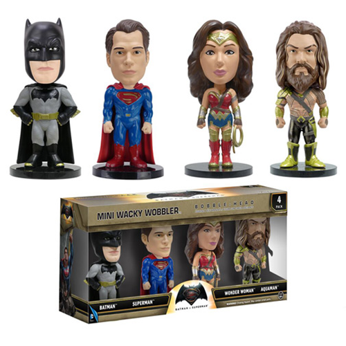 Batman v Superman Dawn of Justice Mini Bobble Heads 4-Pack