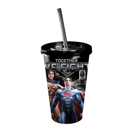 Batman v Superman Dawn of Justice Together We Fight 16 oz. Travel Cup