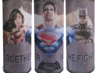 Batman v Superman Dawn of Justice Together We Fight Cylindrical Nightlight