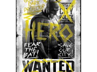 Batman v Superman Dawn of Justice Wanted Hero MightyPrint Wall Art Print