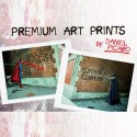 Batman v Superman Graffiti War Art Prints - small