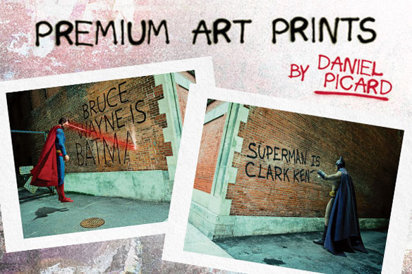 Batman v Superman Graffiti War Art Prints