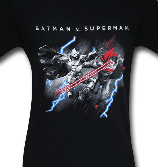 Batman v Superman Lasers and Lightning Shirt