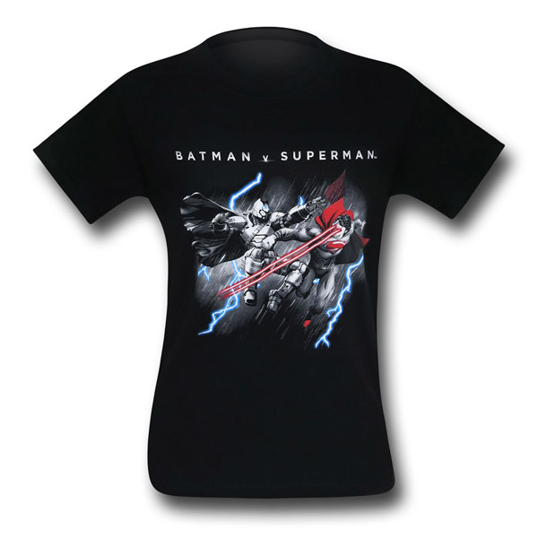 Batman v Superman Lasers and Lightning T-Shirt