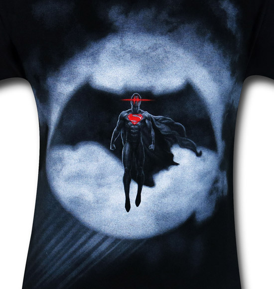 Batman v Superman Signal Silhouette Shirt
