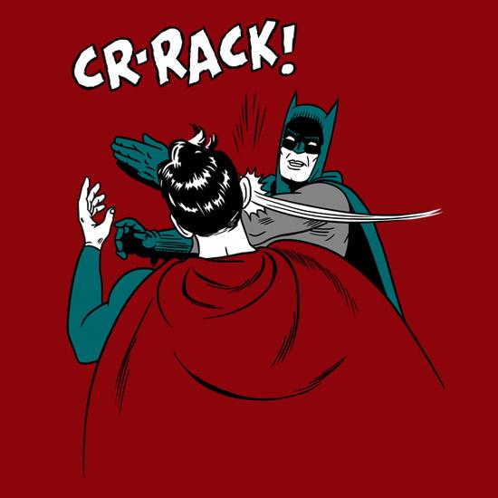 Batman v Superman Slap Shirt