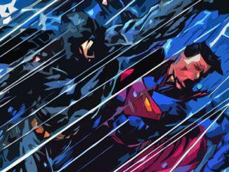Batman versus Superman Superhero Polygon Art