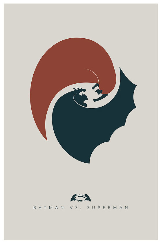 Batman vs Superman Minimalist Poster