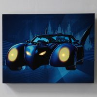 Batmobile Lighted Canvas Wall Art