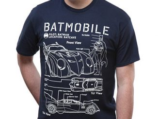 Batmobile Schematics T-Shirt