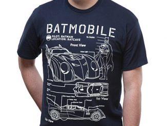 Batmobile Schematics T-Shirt