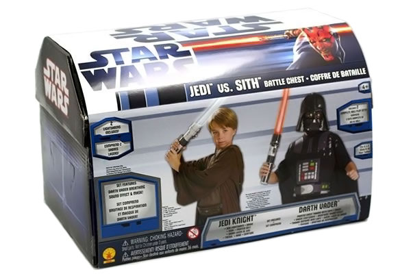 Battle Chest Jedi vs Sith Child Star Wars Costumes with Lightsabers
