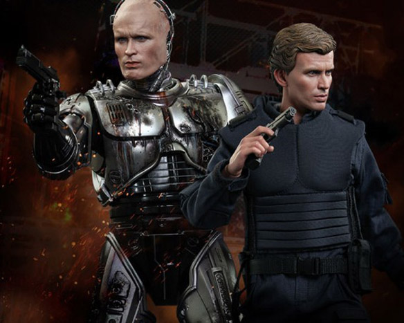 Battle-Damaged Robocop and Alex Murphy Sixth-Scale Figure Set