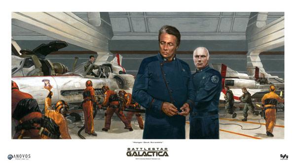 Battlestar Galactica Fine Art Print