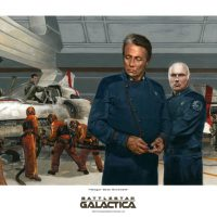 Battlestar Galactica Hangar Deck Scramble Art Print
