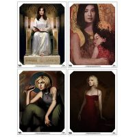 Battlestar Galactica Ladies Gallery Collection Prints 4-Pack