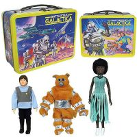 Battlestar Galactica Retro Figures with Tin Tote