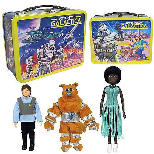 Battlestar Galactica Retro Figures with Tin Tote