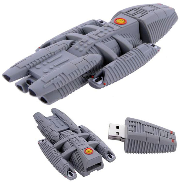 Battlestar Galactica Ship Replica USB 4GB Flash Drive