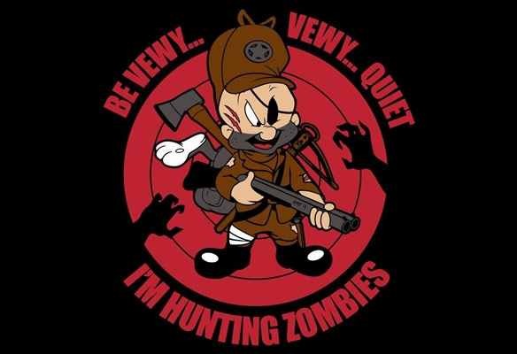 Be Vewy Vewy Quiet Im Hunting Zombies TShirt