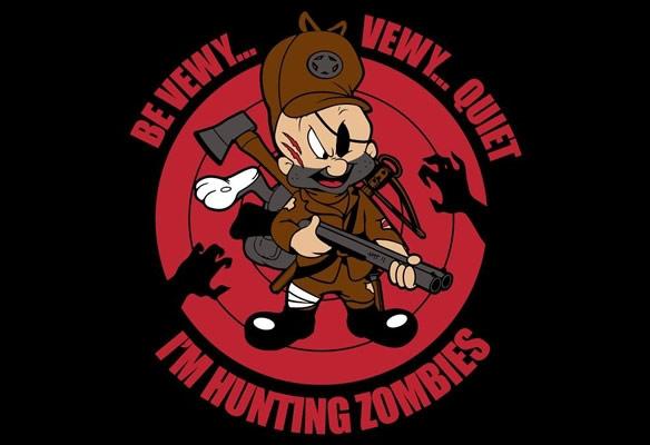 Be Vewy Vewy Quiet Im Hunting Zombies TShirt