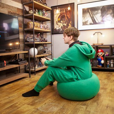 Bean Bag Onesie Sitting