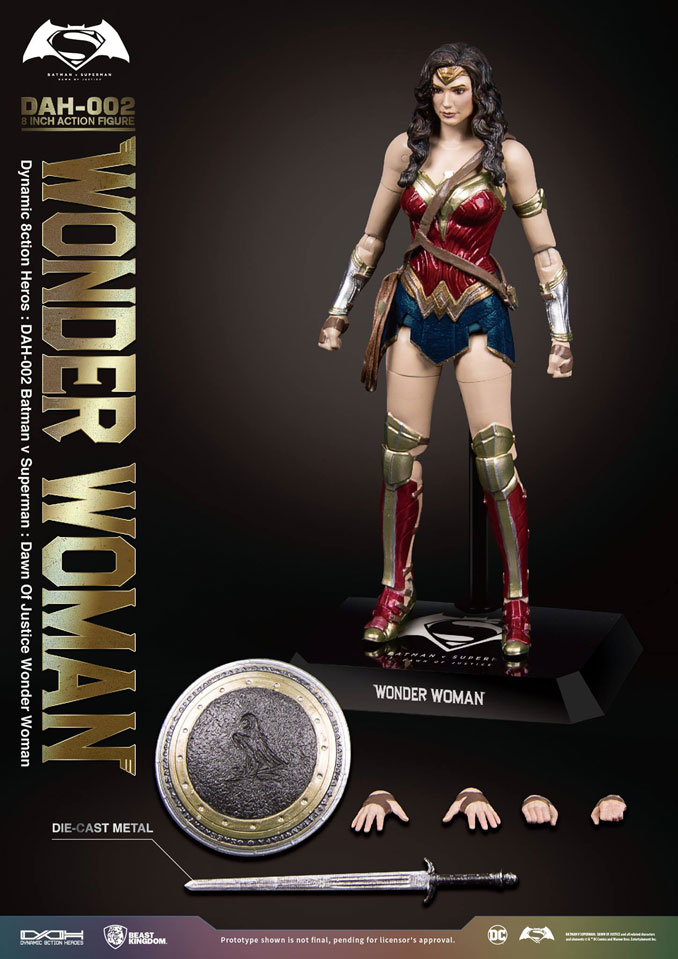 Beast Kingdom BVS Wonder Woman 8inch Action Figure