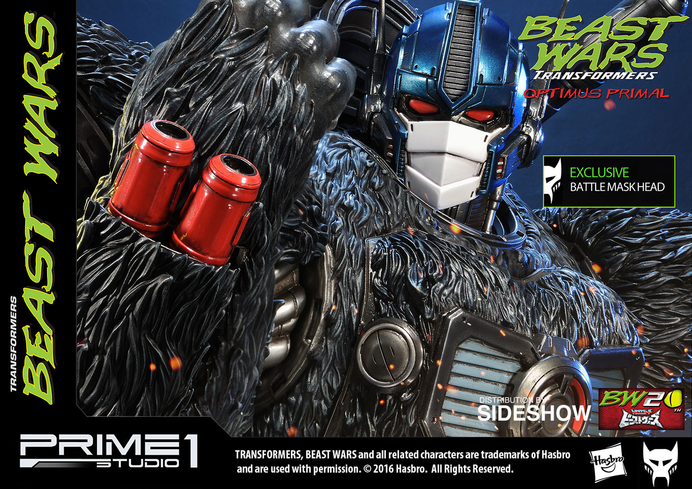 beast wars transformers optimus primal statue