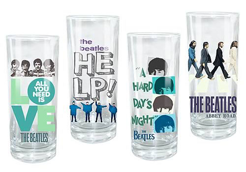 Beatles Theme Glass Set