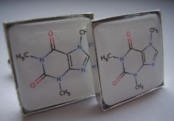 Beer Molecular Structure Cufflink