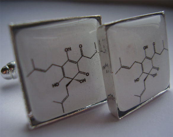 Beer Molecular Structure Cufflinks